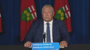 Ontario premier Ford says students won't return to in-class learning until fall (05:20)