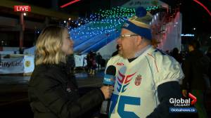 Bluebomber fan from Serbia flies to Calgary for Grey Cup
