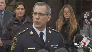 Abbotsford police chief reads statement from Davidson family