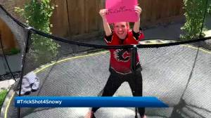 Global News Morning Calgary does the #Trickshot4Snowy challenge