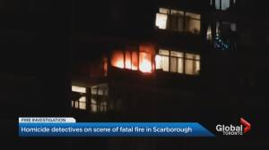 Woman found dead after fire breaks out in Scarborough apartment, homicide unit investigating