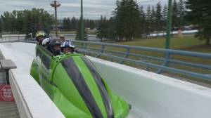 Shaw Charity Classic golfer trades fairways for bobsleigh (01:45)