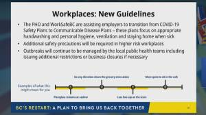 British Columbians can start to return to the workplace, new business guidelines (03:02)