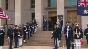 Mark Esper welcomes Australian counterpart to Pentagon