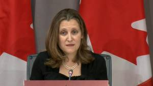 Coronavirus outbreak: Freeland says Canada will do 'whatever it takes' as U.S. moves to block medical exports