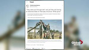 Outrage over post depicting residential school children 'having an absolute blast' (02:02)