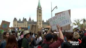 Thousands march on Parliament Hill demanding action on climate change