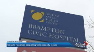 Coronavirus: Ontario hospitals grappling with capacity issues (03:15)