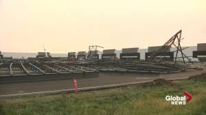 Building collapses in northeast Edmonton after windstorm (01:37)