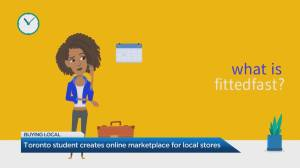 Toronto student creates website to help local businesses adapt to online shopping (04:24)