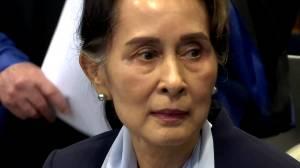 Myanmar's Suu Kyi defiant at Hague genocide hearing