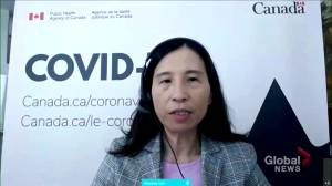 Canada surpasses COVID-19 vaccine targets with over 75% having received 1 shot, over 20% fully vaccinated (01:02)
