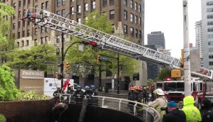 Firefighters perform technical rescue in downtown Vancouver