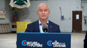 Canada election: O'Toole says he doesn't like the publicly-funded CBC competing with the private sector (02:15)