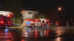 Firefighters battle three alarm fire in Vancouver