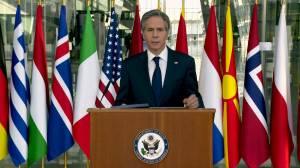 U.S. won't force NATO allies to choose sides between Washington, Beijing: Blinken (01:37)