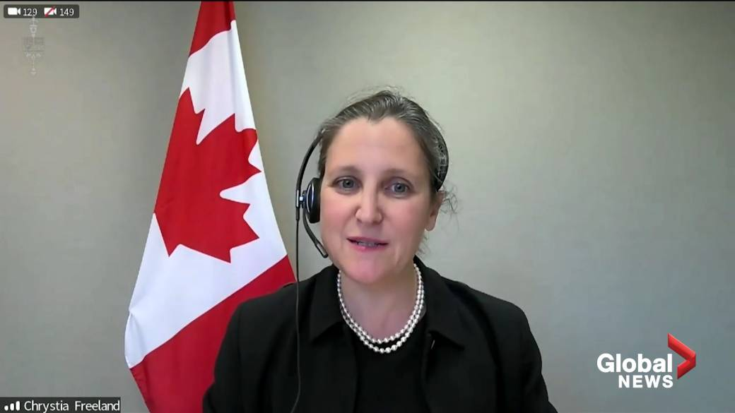 Click to play video: 'Finance Minister Chrystia Freeland announces Canada's spring budget to be tabled April 19'