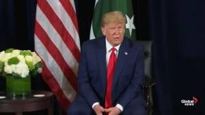 Trump calls Iran 'no. 1 state of terror,' says it's having 'big difficulties'
