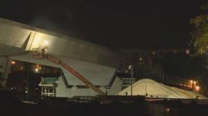 Edmontonians near Valley Line LRT bridge deal with night construction noise