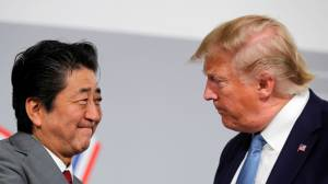 Trump says Japanese PM Abe agreed on principles of trade deal at G7