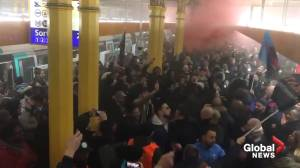 Protesters striking in Paris train station cause widespread delays
