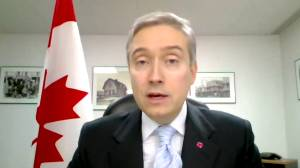 Coronavirus: Champagne tells Canadians 'this is not a time for leisure travel abroad' (01:41)