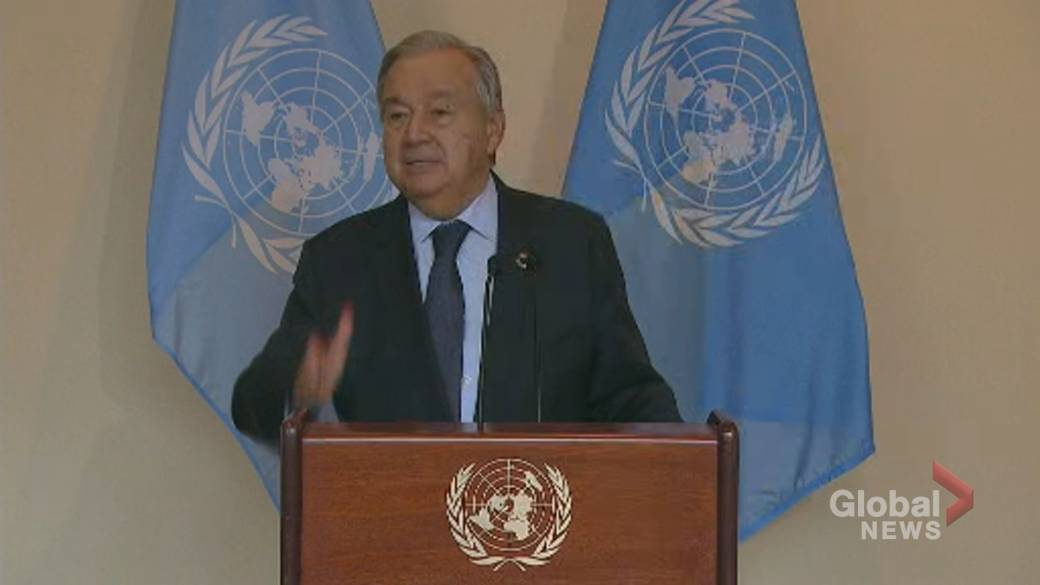 Click to play video: ''Everybody must do their job': Guterres implores countries to take stronger action on climate change'