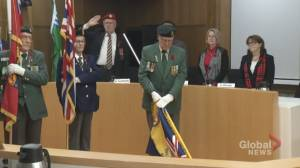 Peterborough city council holds Remembrance Day ceremony, approves consultant for organic waste collection