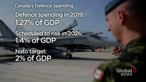 U.S. slams Canada's NATO defence spending