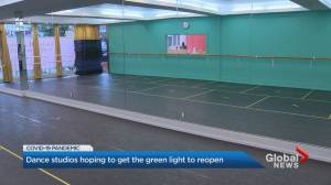 Dance studios urging Ontario government to allow them to reopen (02:17)