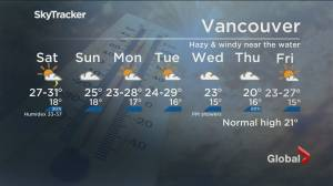 B.C. evening weather forecast: July 30 (02:07)