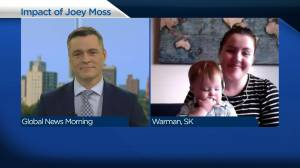 Impact of Joey Moss felt by Warman family (04:05)