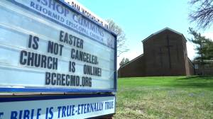 Coronavirus outbreak: U.S. churches sat empty on Easter as country under stay-at-home orders