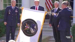 United States Space Command flag unveiled