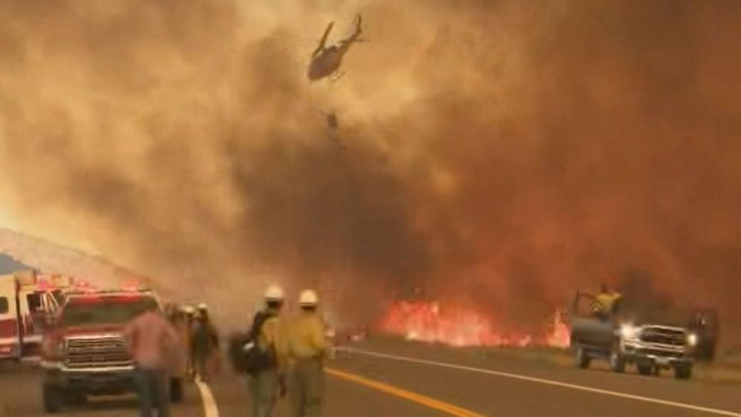 Click to play video: 'Dozens of wildfires rage out of control in western U.S.'