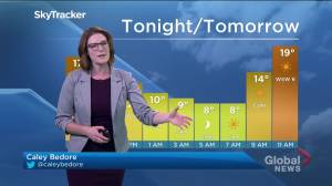 Cool conditions overnight, sunshine for Thursday