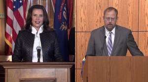 U.S. law enforcement, FBI announce arrest of 6 men in connection to alleged plot to kidnap Michigan Gov. Gretchen Whitmer (02:20)