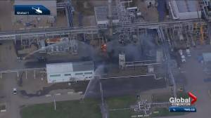 One person taken to hospital after gas plant fire in Fort Saskatchewan (01:40)