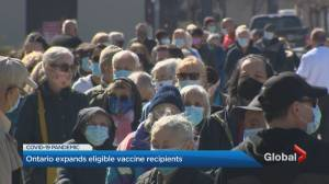 Toronto COVID-19 vaccination appointments run thin ahead of eligibility expansion (02:11)