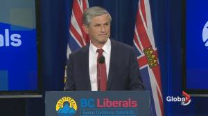 BC Liberal leader Andrew Wilkinson concedes after NDP election win (02:21)