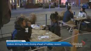 'We're going out every day until lockdown': Patrons ramp up weekend plans before patios close down due to lockdown (02:58)