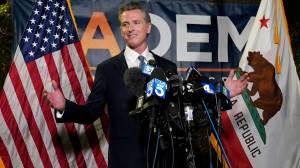 California's Newsom beats recall effort backed by GOP (02:56)