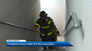 Okanagan Firefighters honour fallen 9/11 first reponders (01:18)