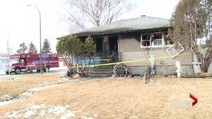 Person in hospital after north Lethbridge house fire (01:14)