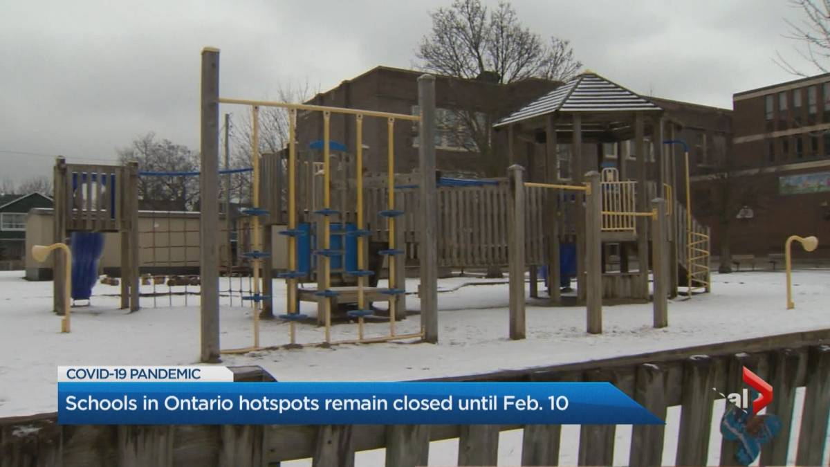 In-person learning in Ontario's 'hot zones' delayed until Feb. 10'