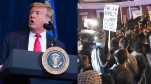 Trump says looting, violent protests has to stop, calls death of Black man 'terrible' (03:34)