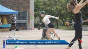 Toronto organization creates pop-up playgrounds for adults (01:54)