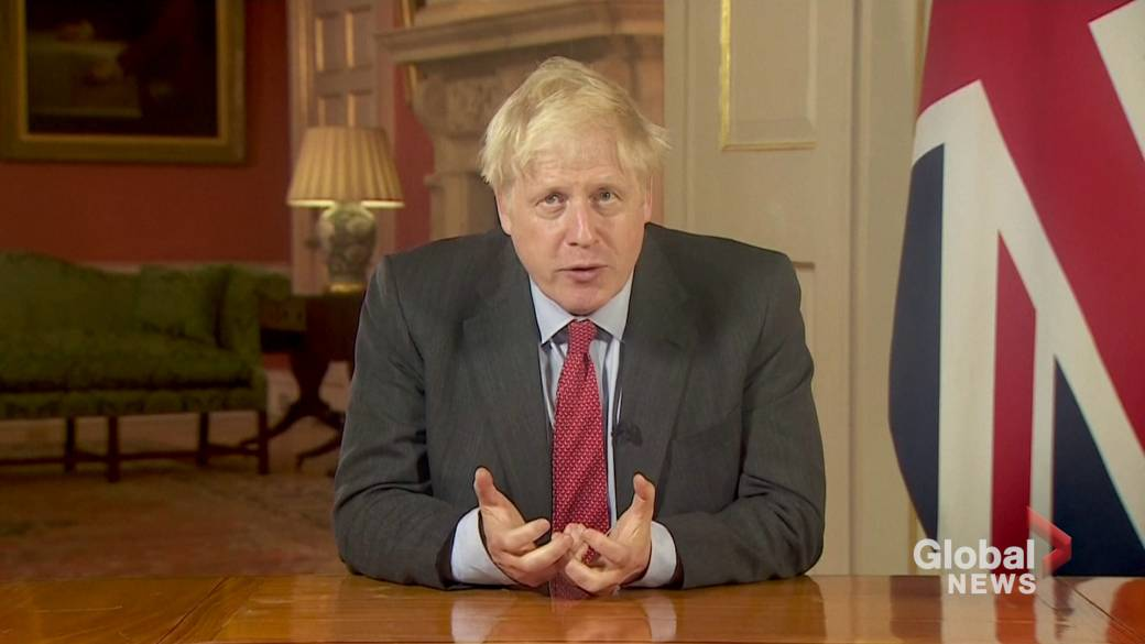 Click to play video 'Coronavirus: British PM Boris Johnson implores nation to comply with new rules'