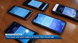 Two teens subject of Amber Alert found safe