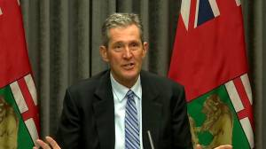 Manitoba premier urges action from feds on flood channel project (02:16)